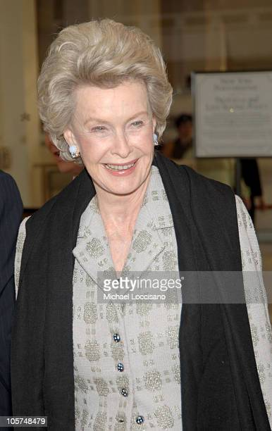 Dina Merrill during Dustin Hoffman Honored by the Film Society of Lincoln Center at Lincoln Center's Avery Fisher Hall in New York City New York...