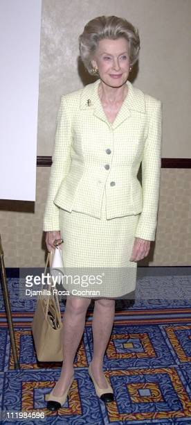 Dina Merrill during New Dramatists 53rd Annual Benefit Luncheon Honors Barbara Cook at Marriott Marquis Hotel in New York City New York United States