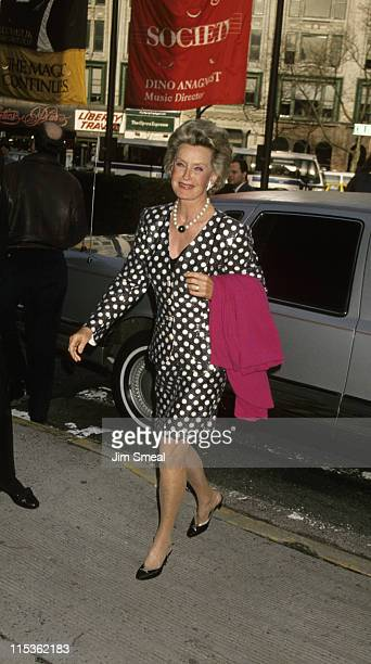 Dina Merrill during Tribute to Director Robert Altman at Avery Fisher Hall in New York New York City United States