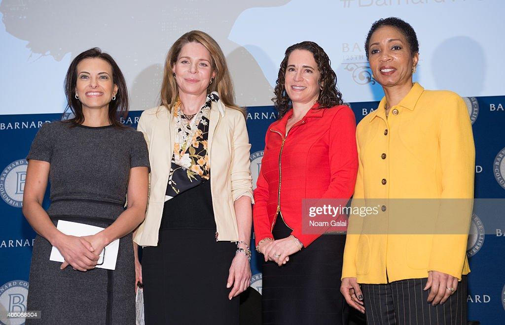 Dina Powell Her Majesty Queen Noor of Jordan President of Barnard College Debora Spar and Helene Gayle attend Barnard College's 7th Annual Global...
