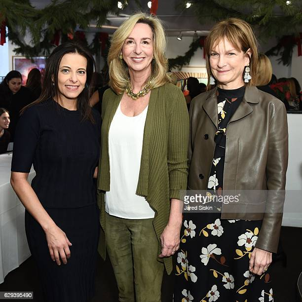 Dina Powell Kerry Healey and Patti Harris attend Hearst Chief Content Officer Joanna Coles Hosts the Hearst 100 Luncheon at Michael's on December 12...