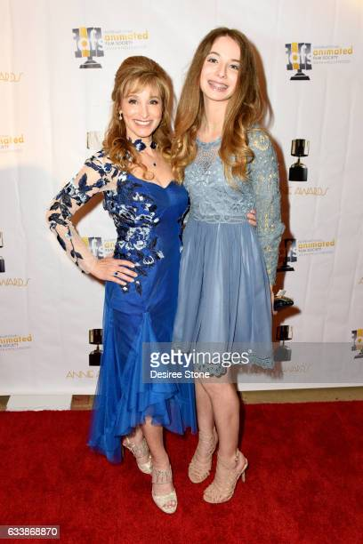 Dina Sherman and her daughter attend the 44th Annual Annie Awards at Royce Hall on February 4 2017 in Los Angeles California