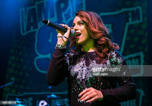 Dinah Hansen of Fifth Harmony performs at the 2013AMP 987 Kringle Jingle at The Fillmore on December 15 2013 in Detroit Michigan