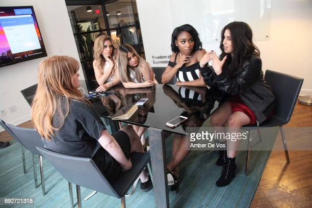 Dinah Jane Ally Brooke Normani Kordei and Lauren Jauregui of Fifth Harmony attend Tumblr x Fifth Harmony Fan Event at Tumblr HQ on June 2 2017 in New...