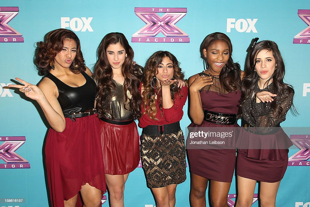 Dinah Jane Hansen, Lauren Jauregui, Ally Brooke, Normani Hamilton and Camila Cabello of the group Fifth Harmony attend the FOX's 'The X Factor' Season Finale - Night 2 at CBS Television City on December 20, 2012 in Los Angeles, California.