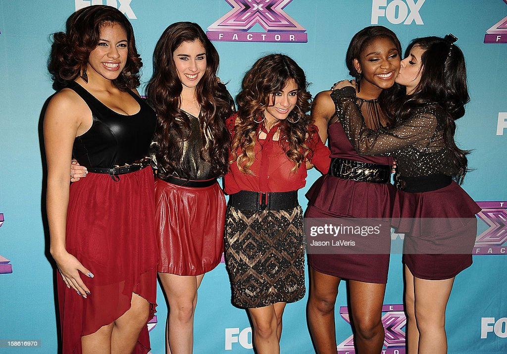Dinah Jane Hansen, Lauren Jauregui, Ally Brooke, Normani Hamilton and Camila Cabello of the group Fifth Harmony attend the season finale of Fox's 'The X Factor' at CBS Television City on December 20, 2012 in Los Angeles, California.
