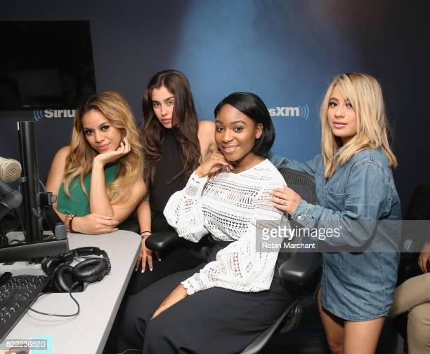 Dinah Jane Hansen Lauren Jauregui Normani Kordei and Ally Brooke Hernandez of Fifth Harmony visit at SiriusXM Studios on July 25 2017 in New York City