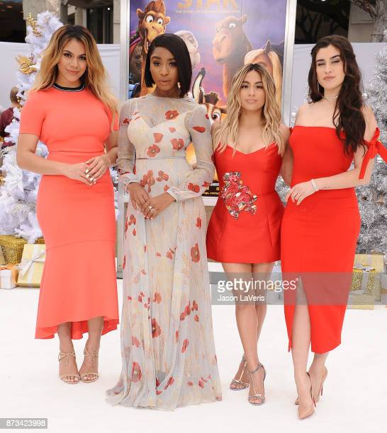 Dinah Jane Normani Kordei Ally Brooke and Lauren Jauregui of Fifth Harmony attend the premiere of 'The Star' at Regency Village Theatre on November...