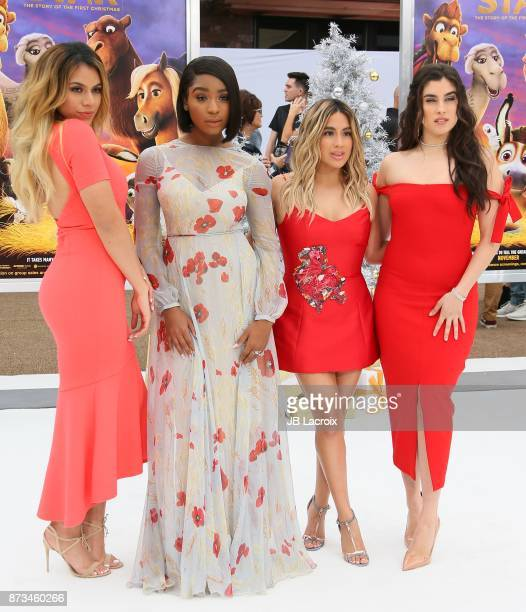 Dinah Jane Normani Kordei Ally Brooke and Lauren Jauregui of Fifth Harmony attend the premiere of Columbia Pictures' 'The Star' on November 12 2017...