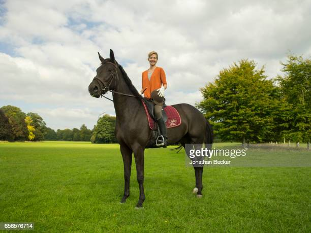 Dinah Streifeneder Countess of Shaftesbury is photographed on September 9 2015 on the grounds of St Giles House in Dorset England