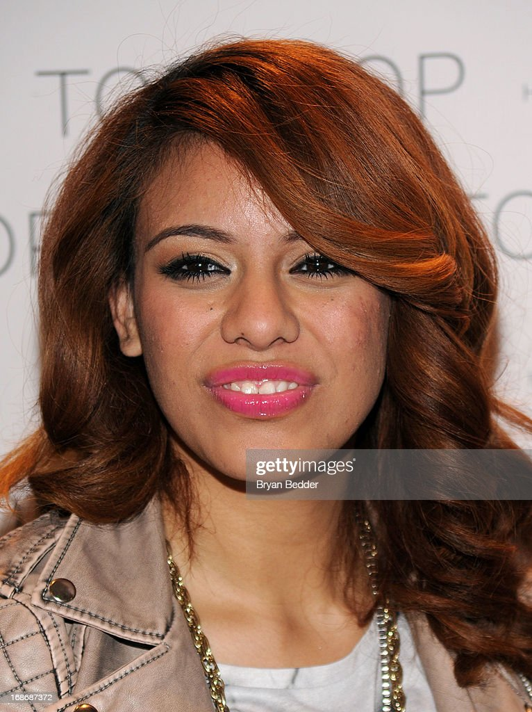 Dinah-Jane Hansen attends X Factor's Topshop photo call with Demi Lovato & 5th Harmony on May 13, 2013 in New York City.