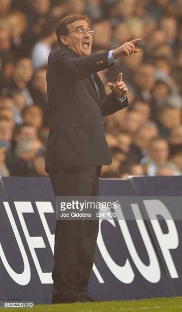 Dinamo Zagreb manager Branko Ivankovic shouts instructions from the touchline