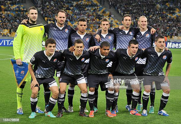 Dinamo Zagreb team group taken prior to the UEFA Champions League group stage match between FC Dynamo Kyiv and GNK Dinamo Zagreb at the Olimpiyskiy...