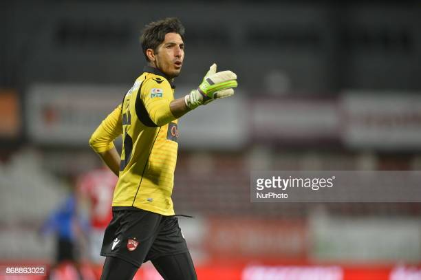Dinamo's Jaime Penedo during a soccer game for Romania Liga between Dinamo Bucharest and Viitorul Constanta at Stadium Dinamo in Bucarest Romania on...