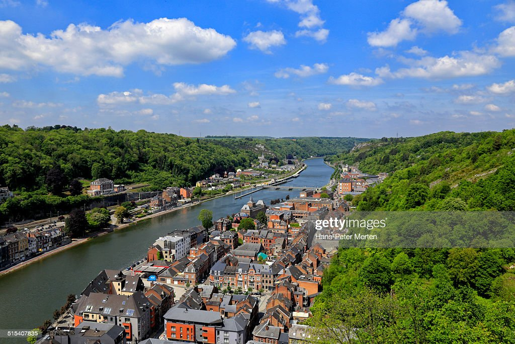 Dinant and river Meuse, Belgium