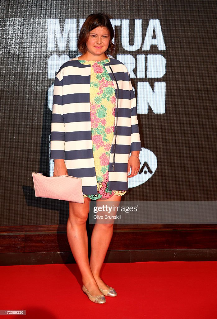 Dinara Safina of Russia arrives at the player party during day two of the Mutua Madrid Open tennis tournament at the Caja Magica on May 3 2015 in...