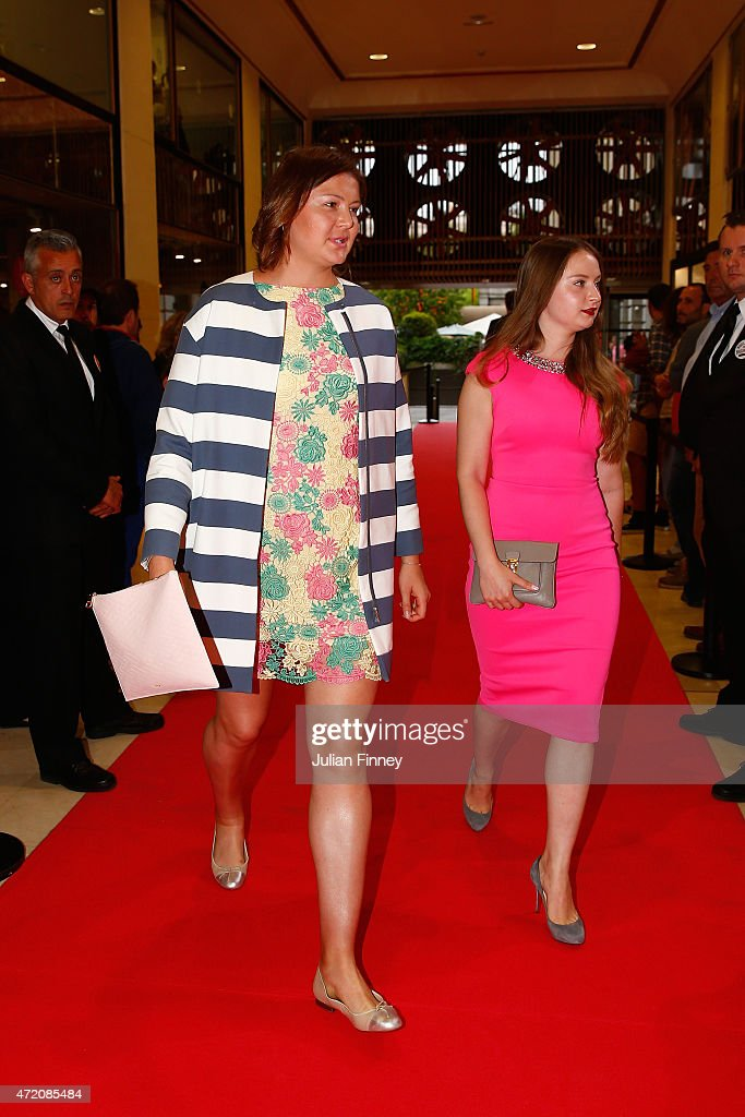 Dinara Safina of Russia arrives at the players party during day two of the Mutua Madrid Open tennis tournament at the Caja Magica on May 3 2015 in...
