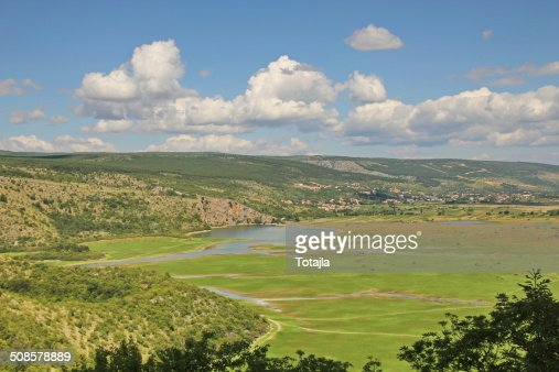 Dinaric karst and mountains in Croatia : Stockfoto
