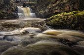 Sgydau Sychryd or The Sychryd Cascades is a set of waterfalls near Pontneddfechan, South Wales.
