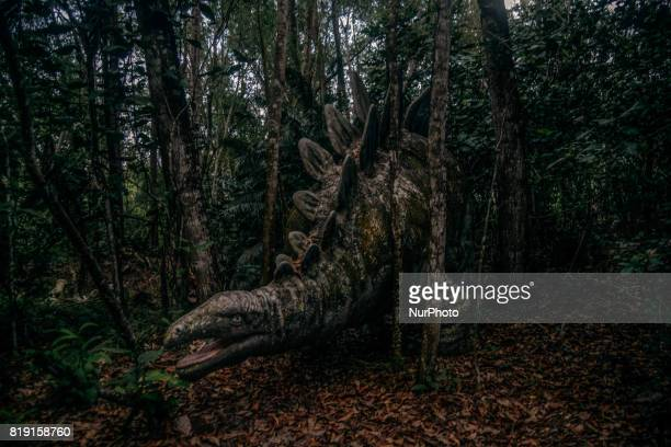 Dinasour replica are seen inside the Mimaland forest after 24 year close July 19 2017 in Kuala Lumpur Malaysia Mimaland started operating in 1971 it...