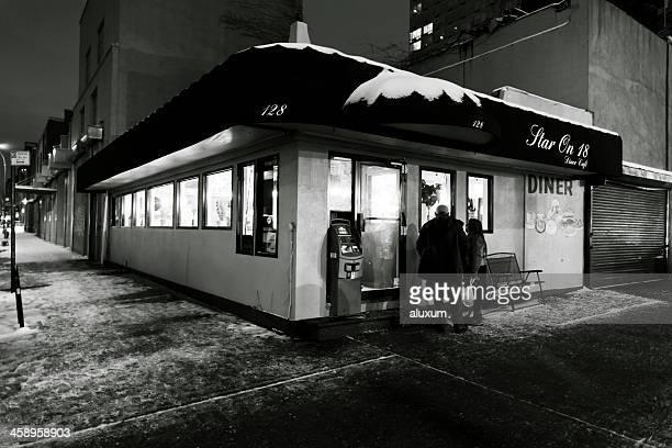 Cenar por la noche en la ciudad de Nueva York