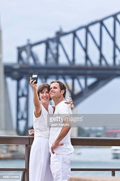 Diner en Blanc at Sydney Opera House on November 28 2015 in Sydney Australia Diner en Blanc is a popup picnic that started in Paris over 20 years ago...