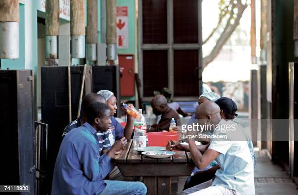Diners at a cafe in Yeoville Johannesburg circa 2006