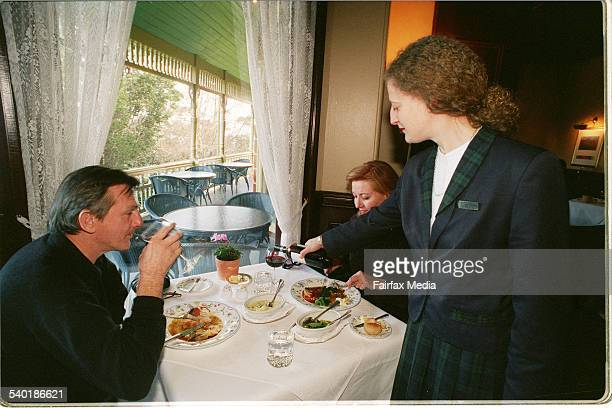 Diners at Darley's restaurant at Lilianfels Katoomba Blue Mountains 2 June 1998 AFR Picture by JAMES ALCOCK