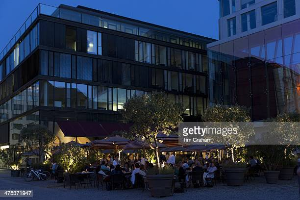 Diners at The Brenner Grill restaurant in Maximilianstrasse in Munich Bavaria Germany
