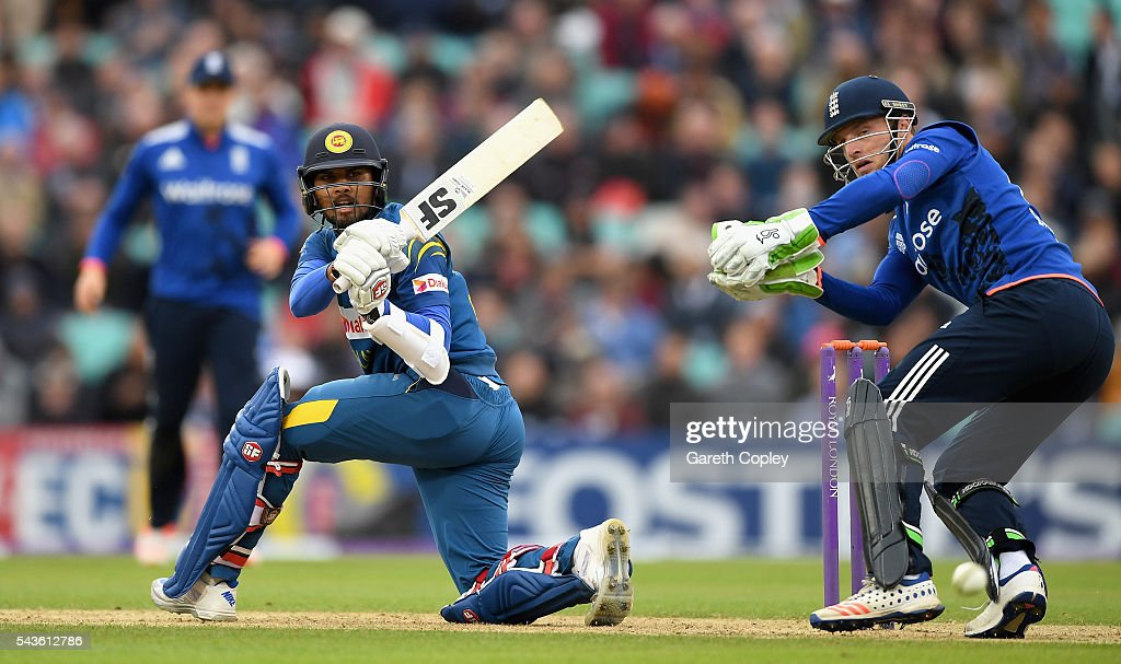 <a gi-track='captionPersonalityLinkClicked' href=/galleries/search?phrase=Dinesh+Chandimal&family=editorial&specificpeople=4884949 ng-click='$event.stopPropagation()'>Dinesh Chandimal</a> of Sri Lanka bats during the 4th ODI Royal London One Day International match between England and Sri Lanka at The Kia Oval on June 29, 2016 in London, England.
