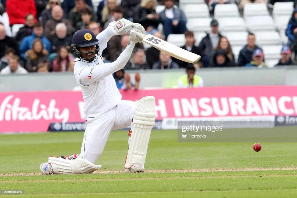 Dinesh Chandimal of Sri Lanka during day four of the 2nd Investec Test match between England and Sri Lanka at Emirates Durham ICG on May 30, 2016 in Chester-le-Street, United Kingdom.