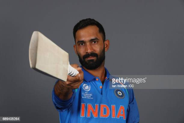 Dinesh Karthik of India poses during an India Portrait Session ahead of ICC Champions Trophy at Grange City on May 27 2017 in London England