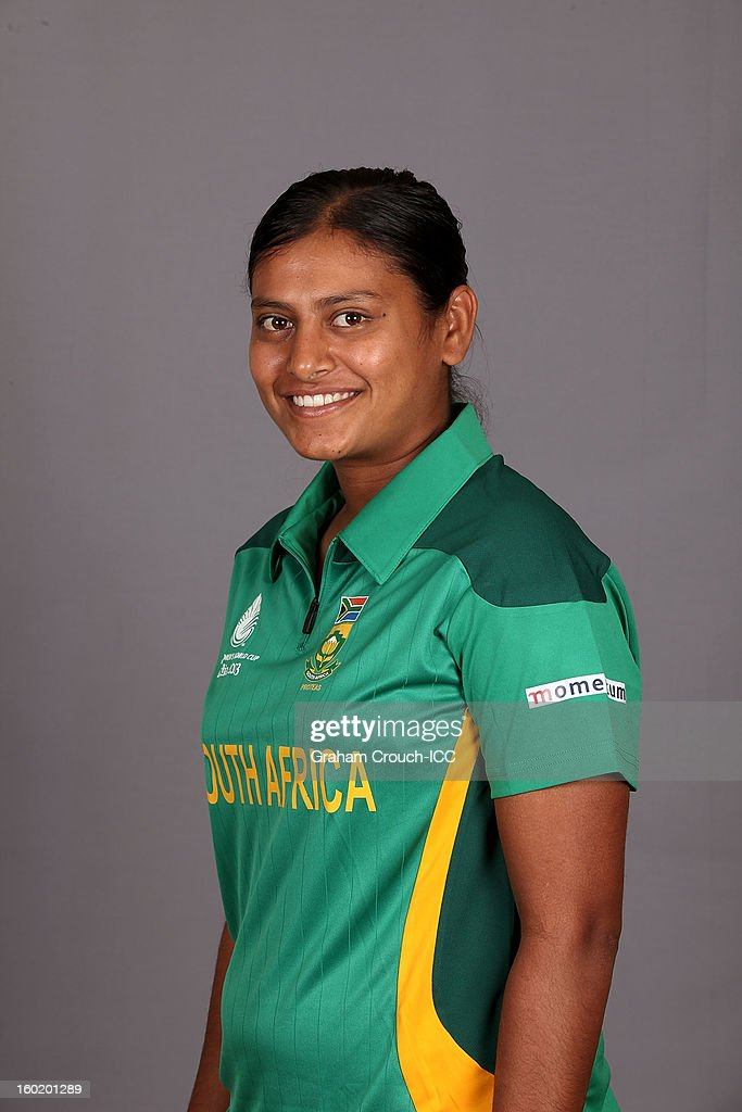 Dinesha Devnarain of South Africa poses at a portrait session ahead of the ICC Womens World Cup 2013 at the Taj Mahal Palace Hotel on January 27, 2013 in Mumbai, India.