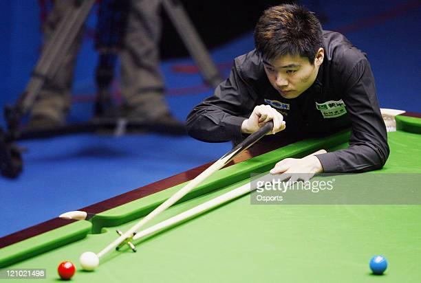 Ding Junhui in action during the Honghe Industrial 2007 World Snooker China Open match against Adrian Gunnell at the Beijing University Students...