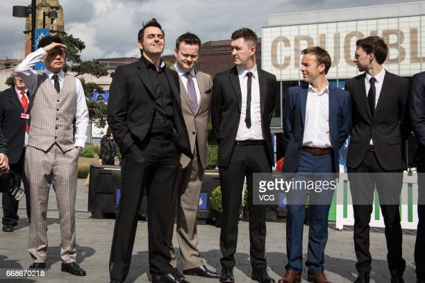 Ding Junhui of China Ronnie O'Sullivan of England Shaun Murphy of England Kyren Wilson of England Allister Carter of England and Judd Trump of...