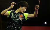 Ding Ning of China competes against Li Jie of Netherlands during the 2016 World Table Tennis Championship Women's Team Division quarterfinal match at...