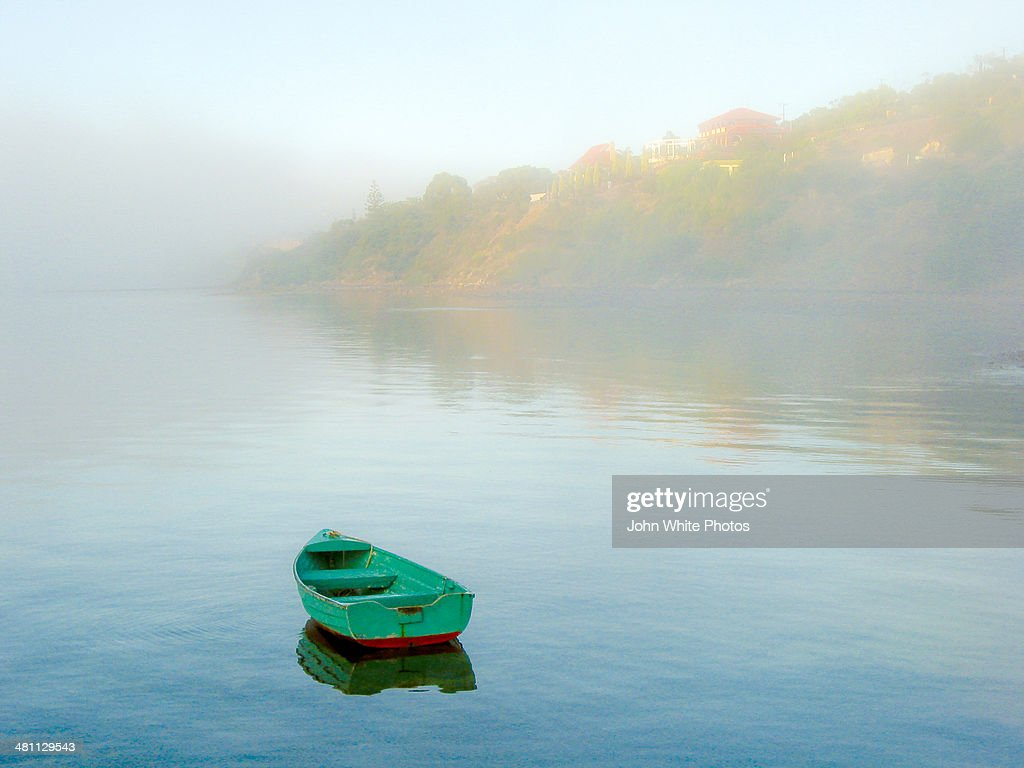 Dinghy in the fog. Port Lincoln. South Australia