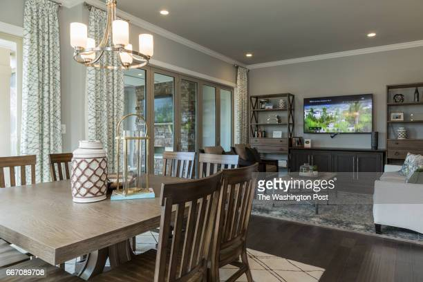 Dining and Living Area in the Tradition Model at Regency at Creekside on March 28 2017 in Gainesville Virginia