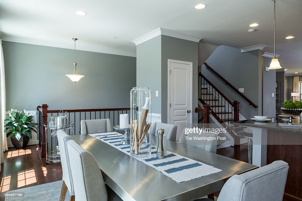 Dining Area and Staircase in the Glasgow Model at Admirals Ridge on August 11 2016 in Arnold Maryland