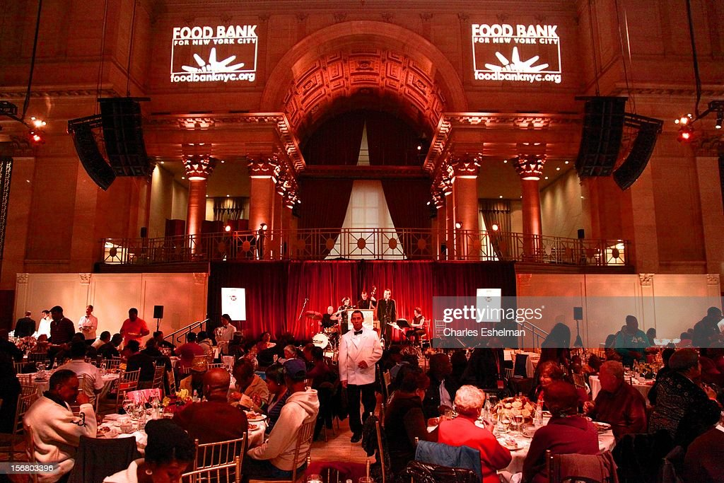 Dining atmosphere during the Our Table Is Yours - A Thanksgiving Day benefit at Cipriani, Wall Street on November 21, 2012 in New York City.