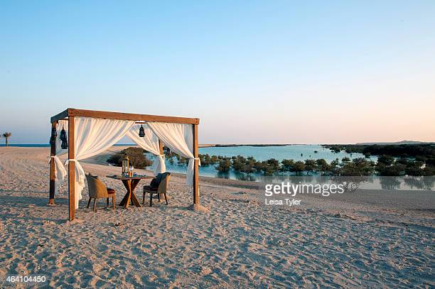 Dining by Design private dining at the Anantara Al Yamm Villa Resort on Sir Bani Yas an island in the Persian Gulf and once the private retreat of...