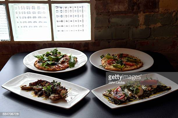 Dining review of Chow Urban Grill May 26 2016 including the tomato burrata Spanish octopus with chorizo vinaigrette and flatbread pizzas