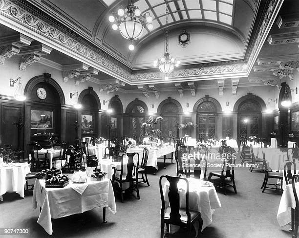 Dining Room at the LNWR's Euston Station c 1913