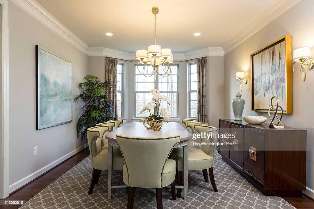 Dining Room in the Lynhurst Model at Hickory Falls on March 1 2016 in Woodbridge Virginia