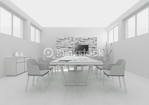Dining room interior grid 3d rendering stock photo for Interior design room grid