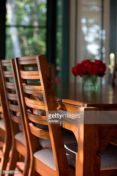 Dining room, table and chairs