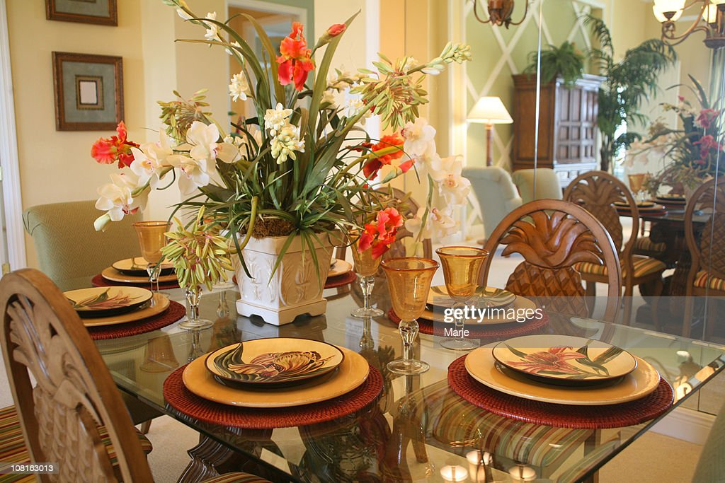 69 dining room table flower arrangements large for Dining table flower arrangements