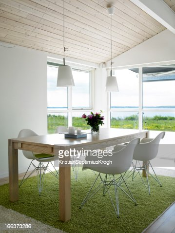 Dining room with view.