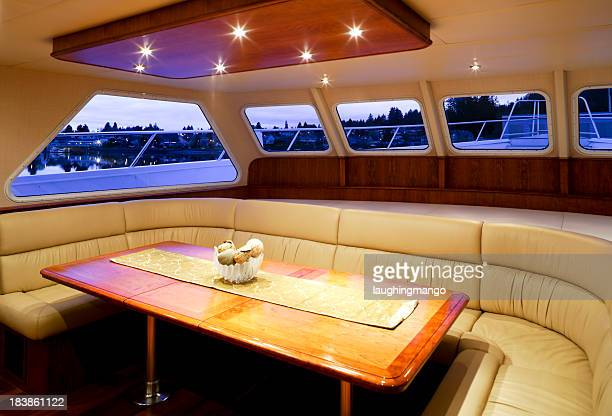 dining room yacht interior