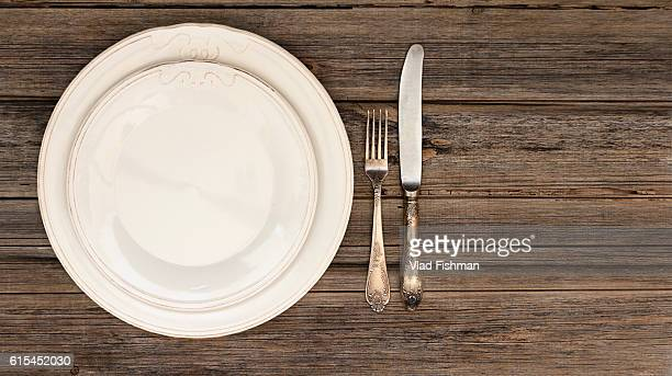 Dining setting with silverware